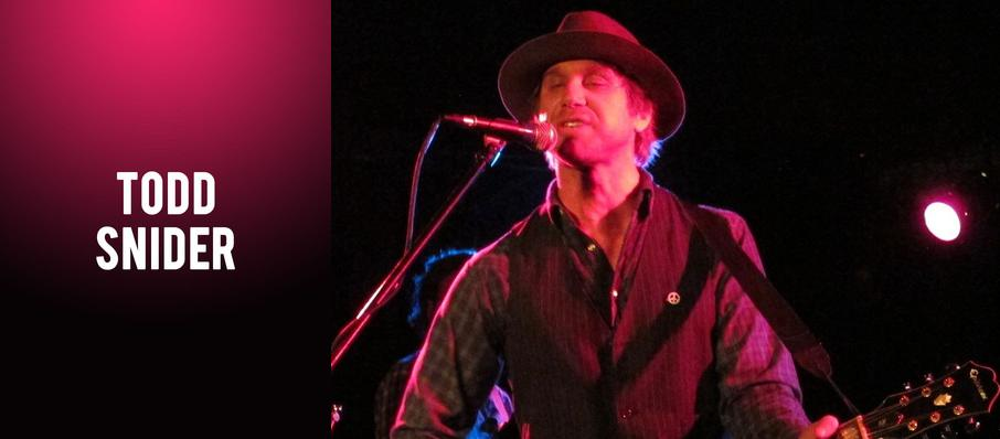 Todd Snider at World Cafe Live Upstairs