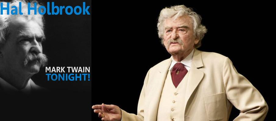 Hal Holbrook: Mark Twain Tonight at Merriam Theater