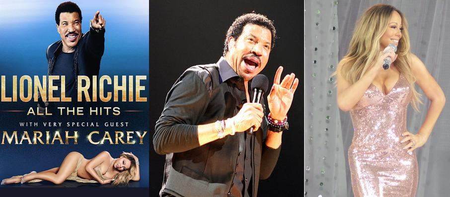 Lionel Richie with Mariah Carey at Wells Fargo Center
