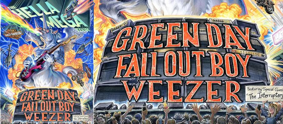 Green Day with Fall Out Boy and Weezer at Citizens Bank Park