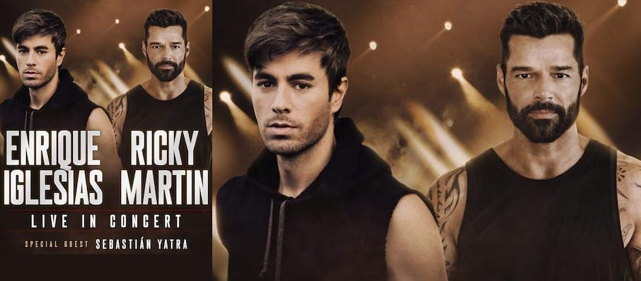 Enrique Iglesias and Ricky Martin at Wells Fargo Center