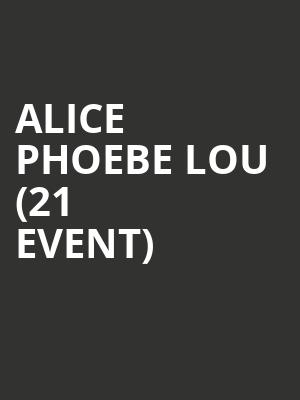 Alice Phoebe Lou (21+ Event) at Johnny Brendas