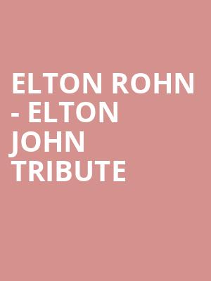 Elton Rohn - Elton John Tribute at Penns Peak