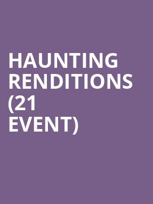 Haunting Renditions (21+ Event) at Boot and Saddle