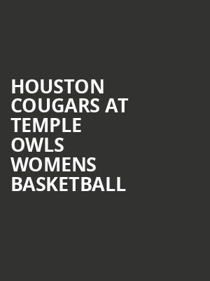 Houston Cougars at Temple Owls Womens Basketball at McGonigle Hall