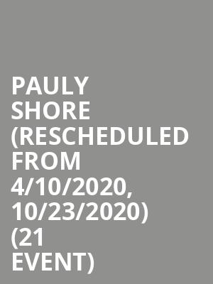 Pauly Shore (Rescheduled from 4/10/2020, 10/23/2020) (21+ Event) at Punch Line