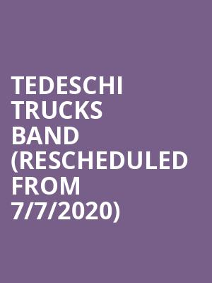 Tedeschi Trucks Band (Rescheduled from 7/7/2020) at TD Pavilion