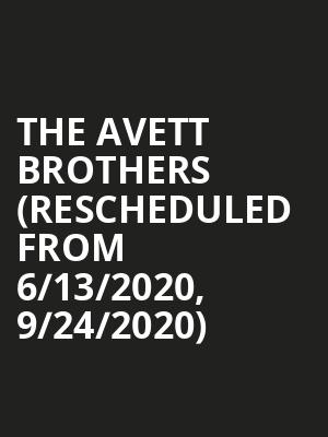The Avett Brothers (Rescheduled from 6/13/2020, 9/24/2020) at TD Pavilion
