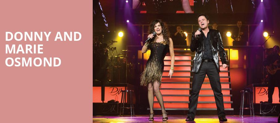 Donny and Marie Osmond, Caesars Atlantic City, Philadelphia