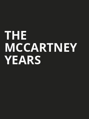 The McCartney Years Poster